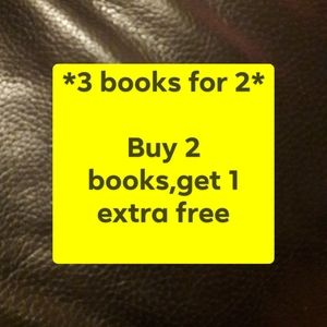 Buy 2 books, get 1 extra free
